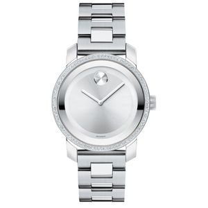 Movado 90 DIAMOND Swiss Bold stainless steel watch