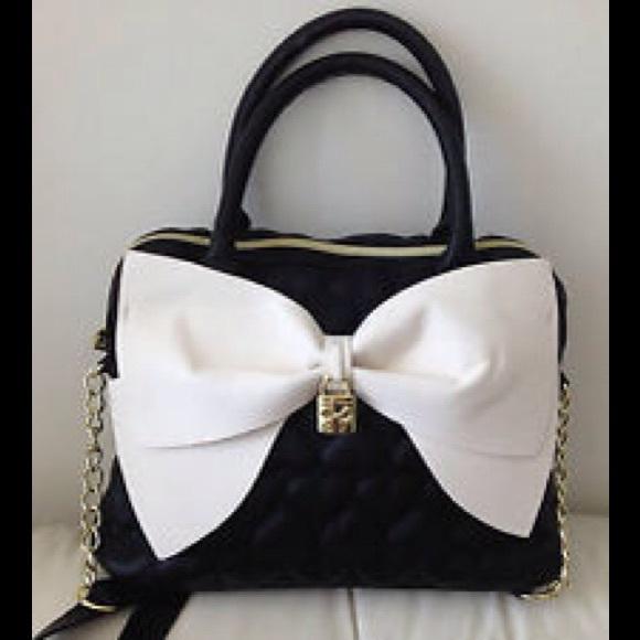 Betsey Johnson Bow My Gosh Satchel Bag