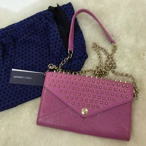 Rebecca Minkoff Pink Spiked Crossbody Clutch Bag
