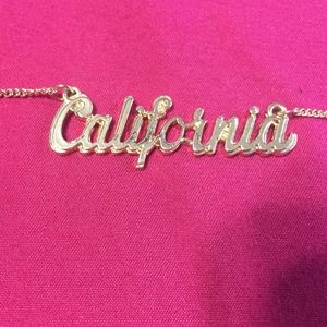 Gold plated California necklace