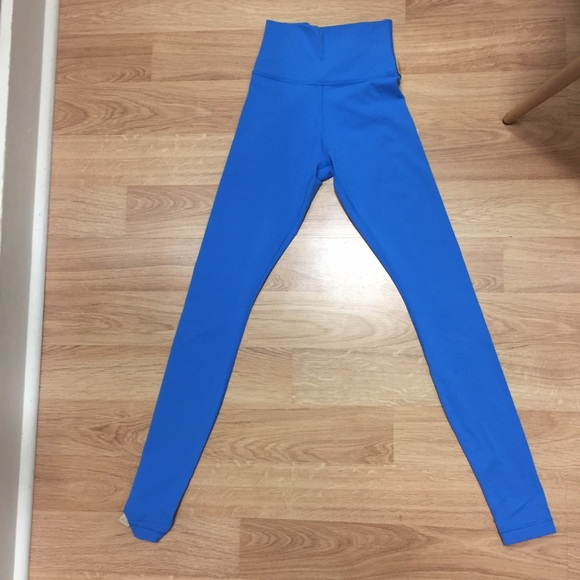 42% off lululemon athletica Pants - Lululemon bright blue leggings ...