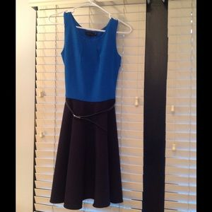 The Limited navy and blue dress NWT