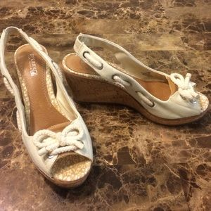 Sperry Tan wedges