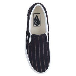 Shoes - Vans JCrew loafers slip-on pinstripe wool 8 Navy