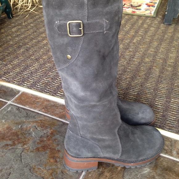 Merona - Grey suede tall boots from Twila\'s closet on Poshmark