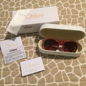 Authentic Chloe Sunglasses w Star Detail