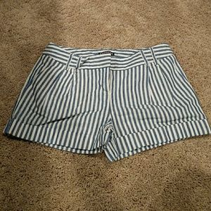 Express white and blue shorts
