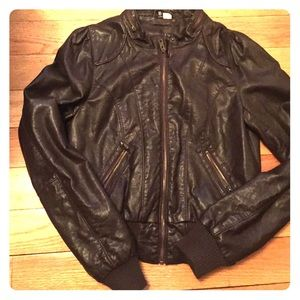 Faux leather H&M brown jacket