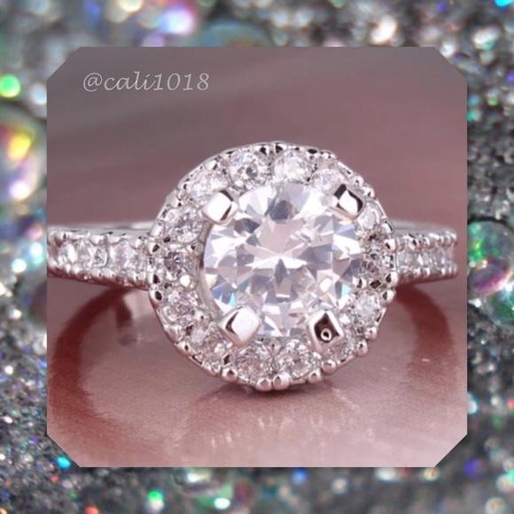 072ef4ab4 Boutique Jewelry   New White Topaz 18k White Gold Filled Ring   Poshmark