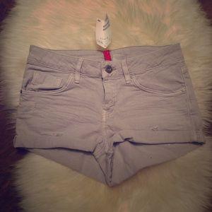 H&M Denim Grey Short Shorts
