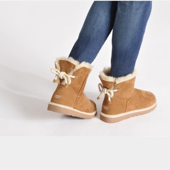 22969657dea UGG Authentic Selene rope chestnut boots Sz 11 new NWT