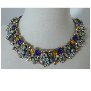 Jewelry - New! Fancy Statement Necklace Aqua Blue Green