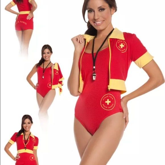 Baywatch red swimsuit lifeguard Halloween costume  sc 1 st  Poshmark & Halloween costume Dresses | Baywatch Red Swimsuit Lifeguard ...