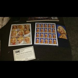 Marilyn Monroe collectible stamps and magazine