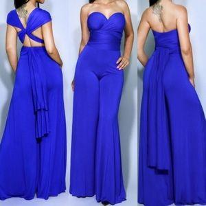 Other - Blue Multi Way Jumpsuit