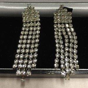  Vintage Rhinestone Earrings 