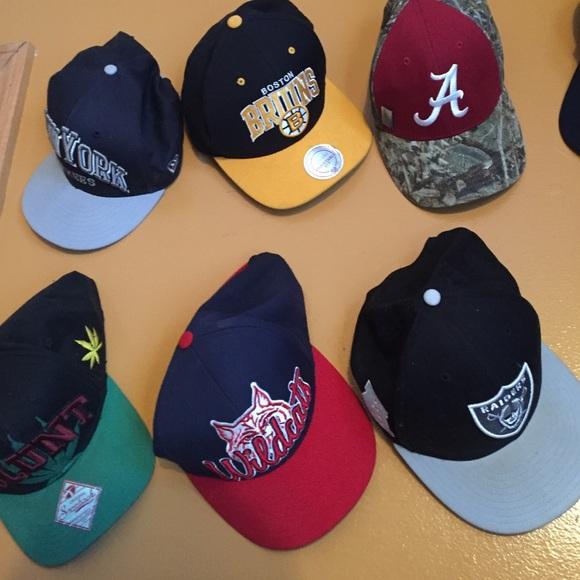 Assortment of snapbacks and bucket hats 92ba862ce5e7