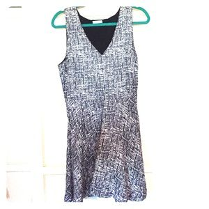 Black and white Joie a-line dress