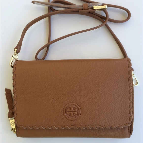 2c0071ddc855 New Tory Burch Marion Flat Wallet Cross Body