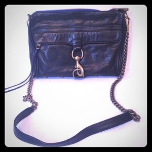 Black Rebecca Minkoff large MAC clutch crossbody