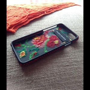 online retailer 0fded e66fd iPhone 6 Plus case pink rose flower cross stitch Boutique
