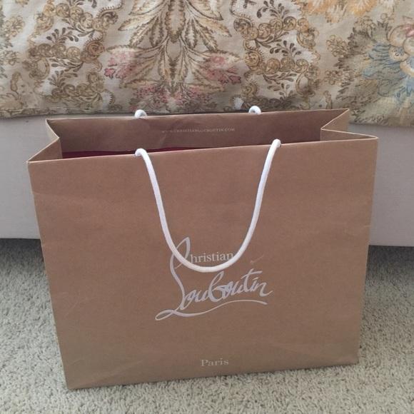 8402878baf8 Large Christian louboutin shopping bag