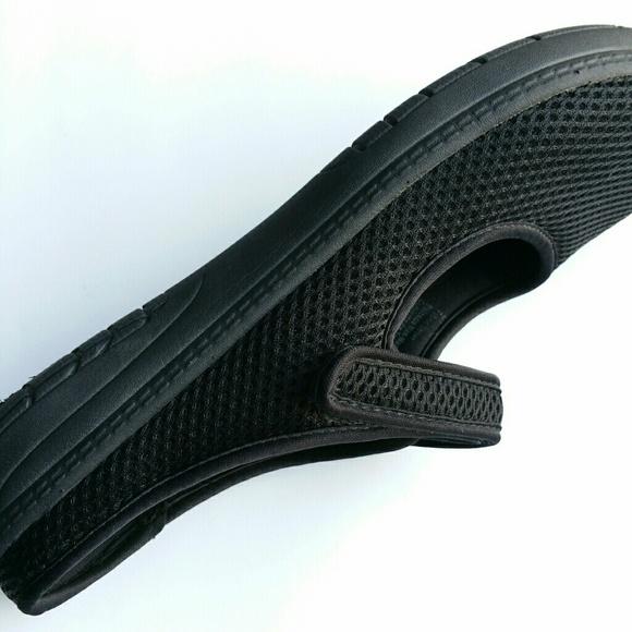 Faded Glory Black Suede Slip On Shoe