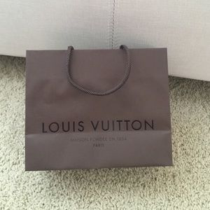 Louis Vuitton small shopping retail bag