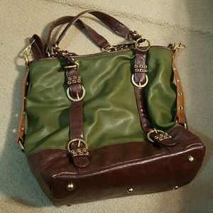 Large green and brown bag