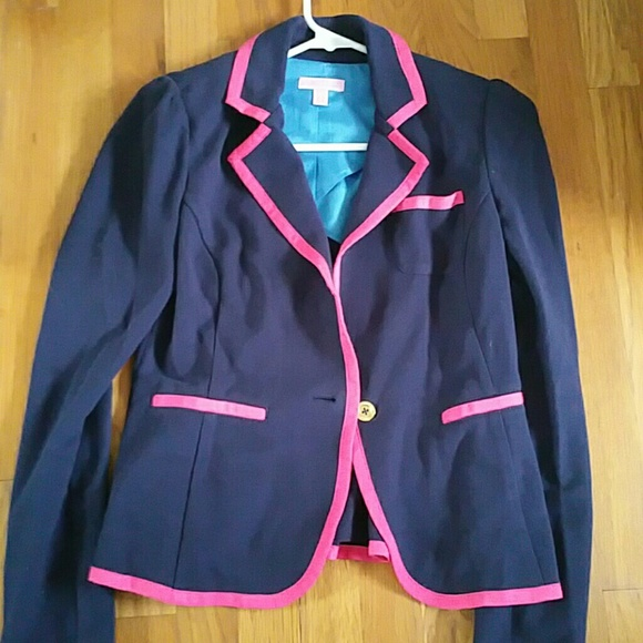 Pink and blue blazer