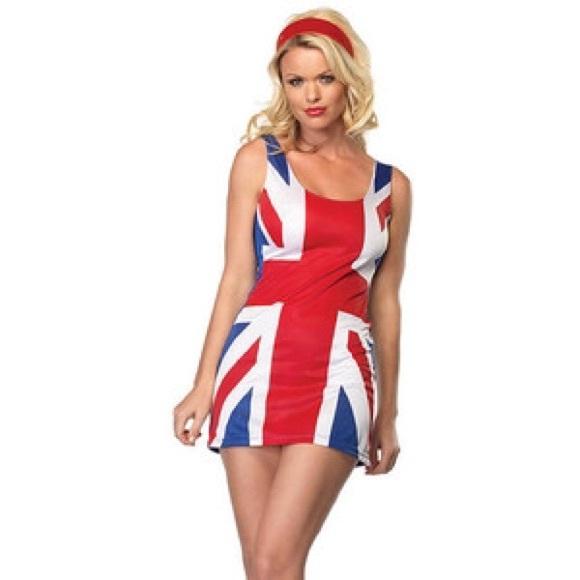 sexy british flag dress halloween costume