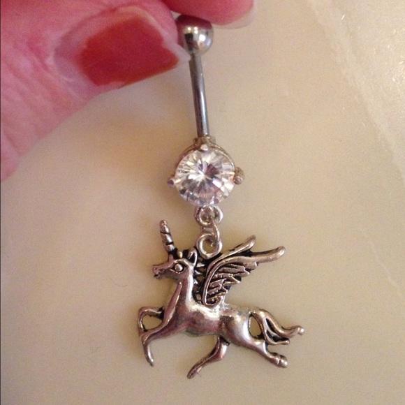 Flying Unicorn Navel Ring