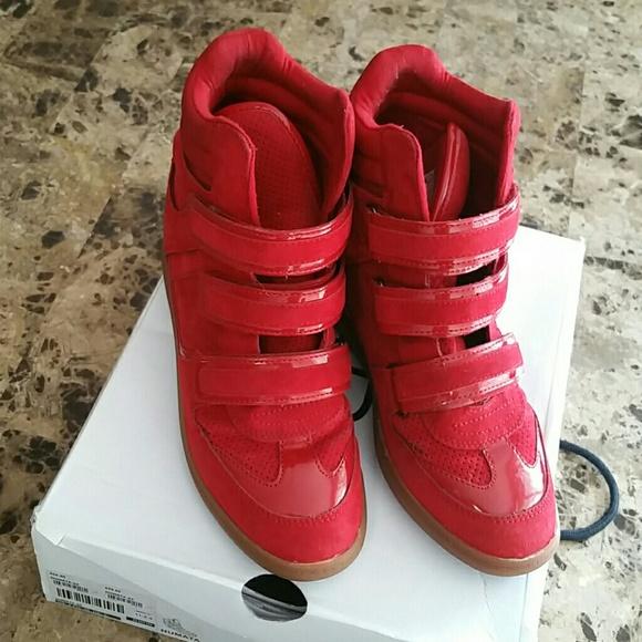 a6b556f1ae0a Aldo shoes red numata wedge sneaker poshmark jpg 580x580 Aldo red wedge  sneakers