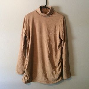 Brown and Tan Maternity Sweater