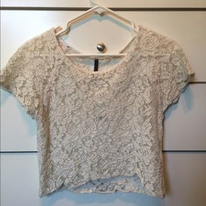 Tops - White lace top