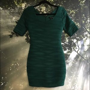 Emerald Body Con Mini Dress (worn once)