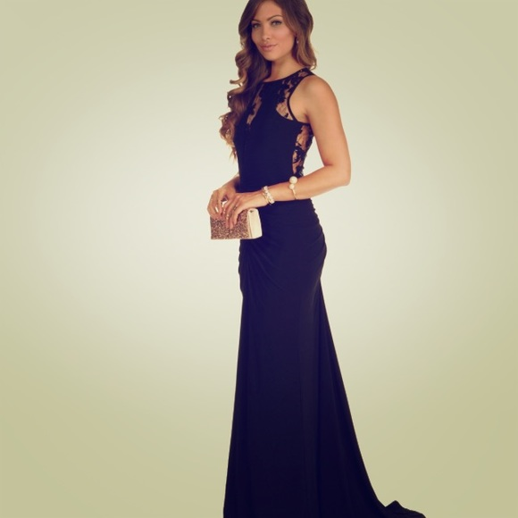 Windsor Dresses Petite Black Long Dressgown Poshmark