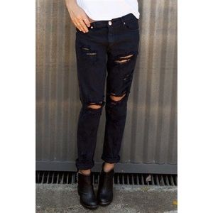 One Teaspoon Boyfriend Jeans Black