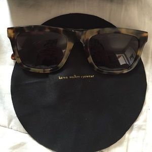 "Karen Walker Accessories - 🆕 karen walker ""deep freeze"" sunnies in tortoise"