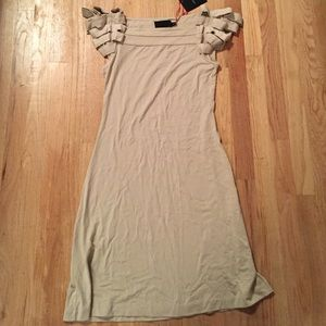 Cynthia rowley beige dress