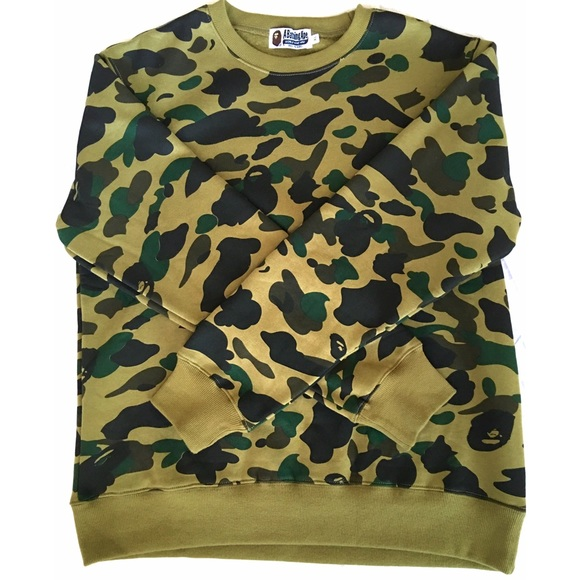 f9cd554e24c7 A Bathing Ape (BAPE) Sweaters - BATHING APE 1ST CAMO CREWNECK BAPE Green  Camo
