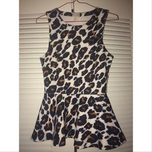 Animal Print Peplum Top from H&M