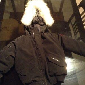Canada Goose' Youth Rundle Bomber Jacket - Black
