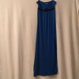 Silence + Noise Maxi Dress in Electric Blue