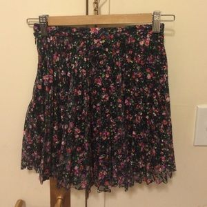 Topshop Floral Lace Overlay Skirt