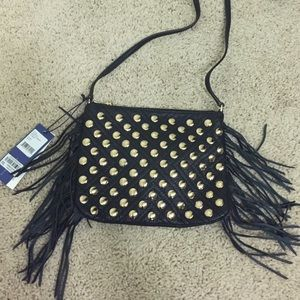 Rebecca Minkoff gold and black purse