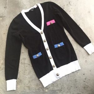 Forever 21 Sweaters - Forever 21 Black and White Cardigan
