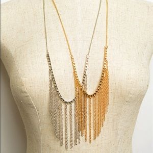 Fringe Chain Necklace - Gold & Silver