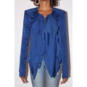 BCBGMaxAzria Jackets & Coats - BCBG Blue Sweater Blazer