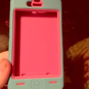 Pink and Blue iPhone 4s case